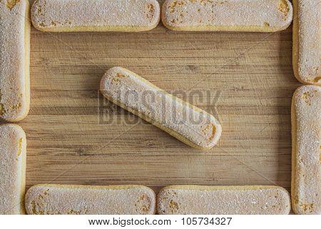 Ladyfinger biscuits, food frame
