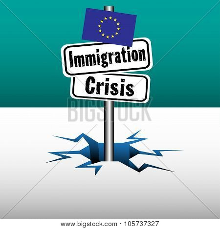 Immigration crisis plate