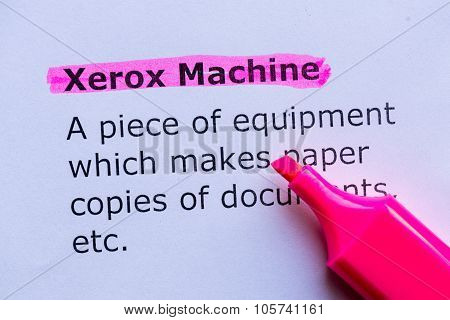Xerox Machine