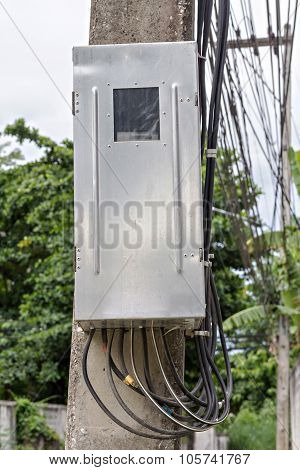 Main Circuit Box Breaker On Electricity Post (junction Box)