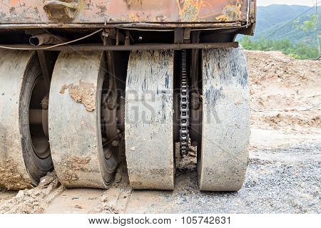 Wheels Of Road Roller