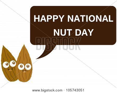 Happy national nut day cartoon version 1