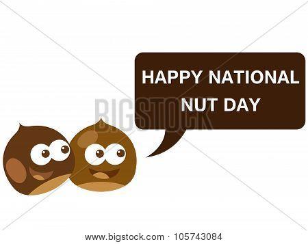 Happy national nut day cartoon version 4