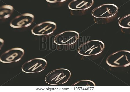 Retro Toned Vintage Typewriter Keys