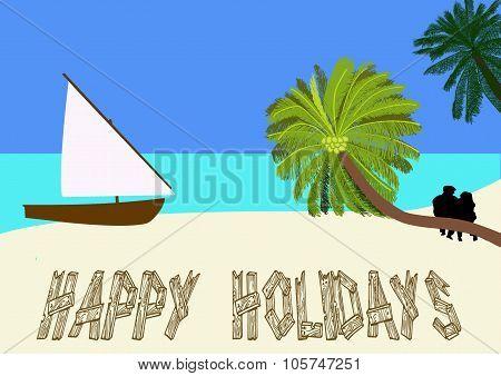 Holiday On A Tropical Beach
