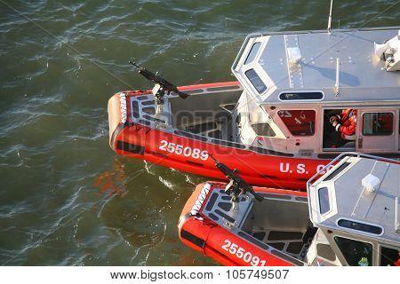 Two Us Coast Guard Powerboats