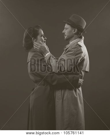 Film Noir Romantic Scene