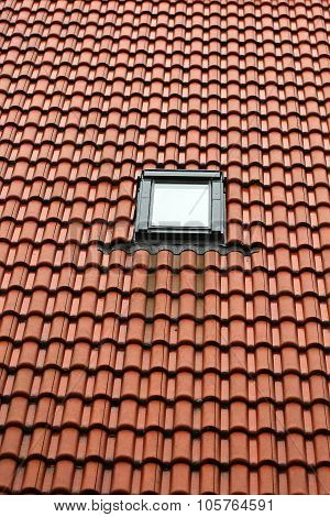 Single Window On Red Roof