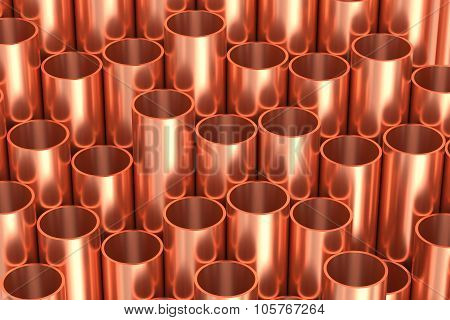 Shiny Copper Pipes Industrial Illustration