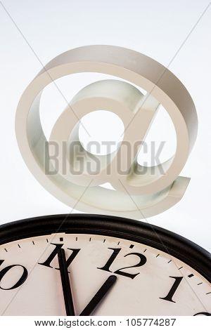 a clock that