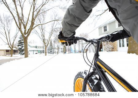 Winter biking
