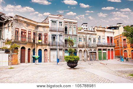 Largo de Sao Francisco da Prainha square in  the center of Rio de Janeiro, Brazil.