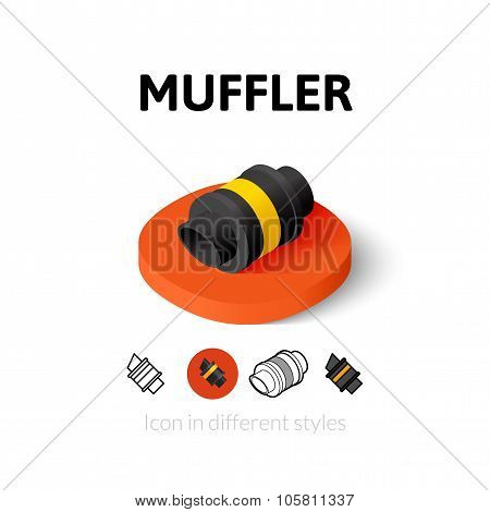 Muffler icon in different style