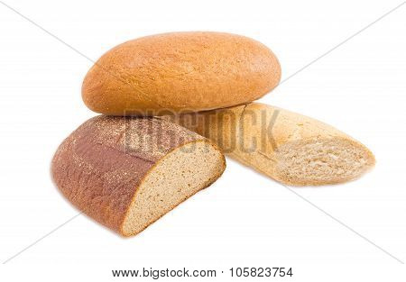 Different Types Of Bread On A Light Background