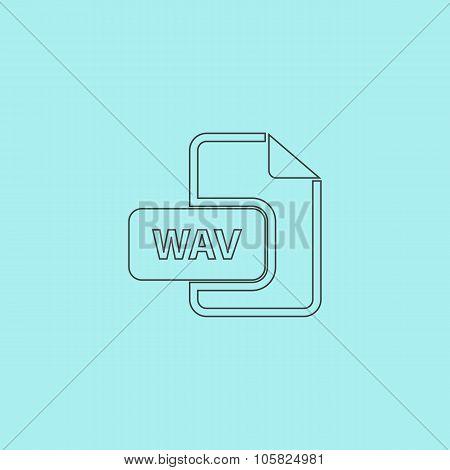 WAV audio file extension icon.
