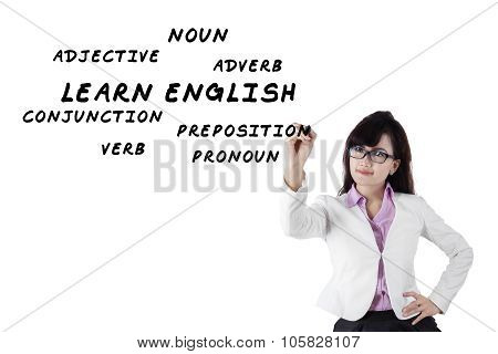 Female Teacher Of English Language