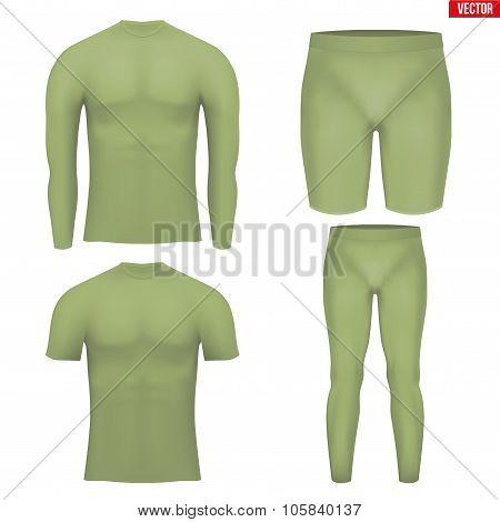 Thermal underwear layer compression set
