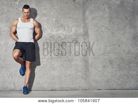 Fit And Healthy Man, Muscular Build Portrait