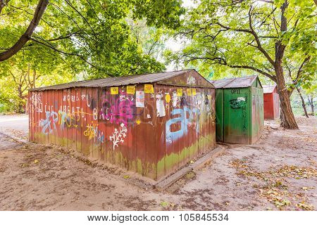 Old Rusty Garages