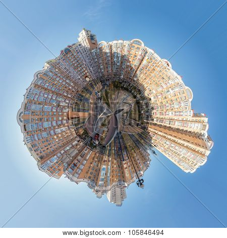 Modern Buildings In The Obolon District Of Kiev