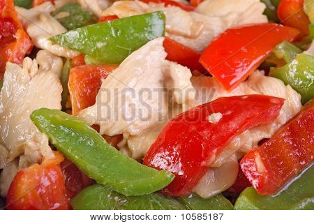 Stir Fried Chicken and Bell Pepper