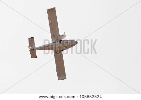 Flying hydroplane SK-12 Orion. Bottom view