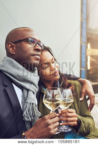 Loving African Couple Enjoy A Tender Moment