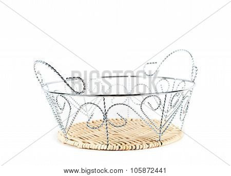 the breadbasket close-up isolated on white background