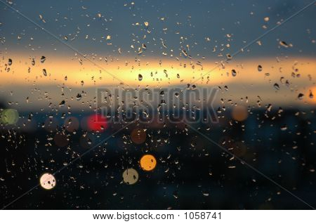 Sunset On Rainy Day