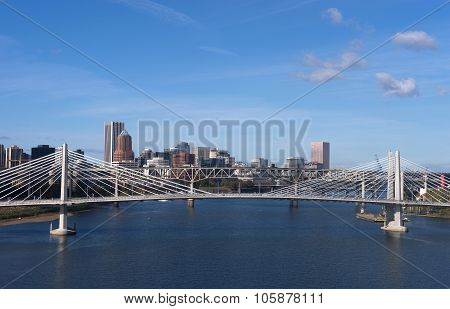 Tilikum Crossing Portland Oregon New Bridge Construction Willamette River