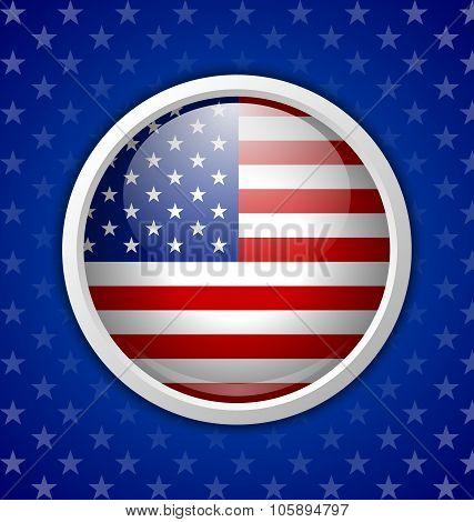 American Circular Badge