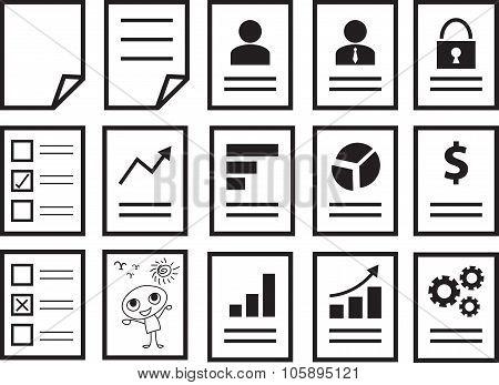 Set Of Document Icons