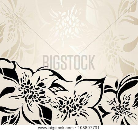 Ecru floral decorative holiday background