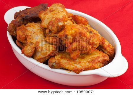 Red Hot Chicken Wings