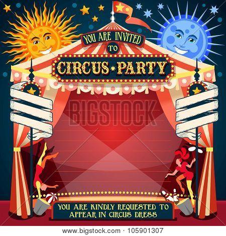 Circus Invitation Vintage 2D