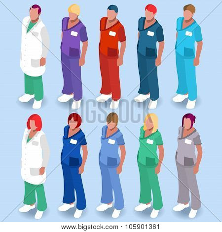 Hospital People Isometric