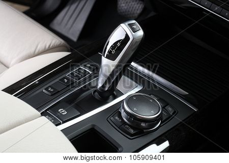 Car Interior. Gear Shifting Lever 3