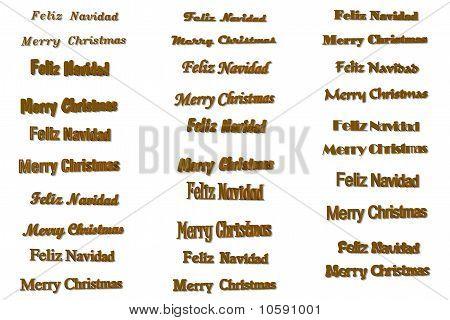Merry Christmas 3D Twelve Typefaces
