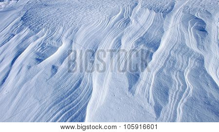Texture of the snow