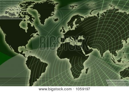 World Map _ Radar Grid