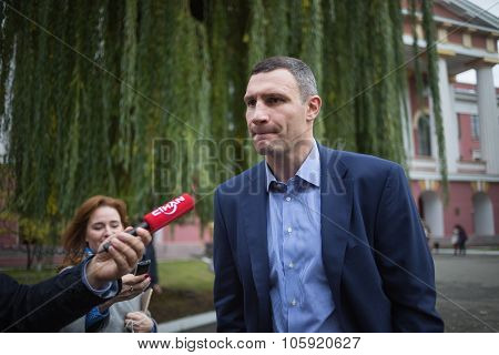 former heavyweight boxing champion Vitali Klitschko