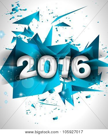 2016 Happy New Year Background for your Flyers and Greetings Card. Ideal to use for parties invitation, Dinner invitation, Christmas Meeting events and so on.