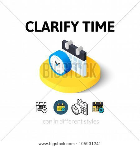 Clarify time icon in different style
