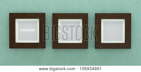 Square wooden picture frames