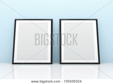 Black picture frames
