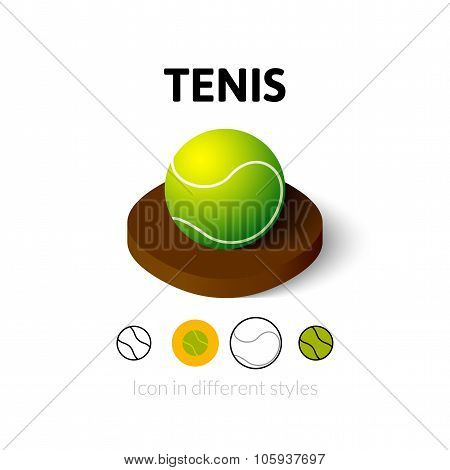 Tenis icon in different style