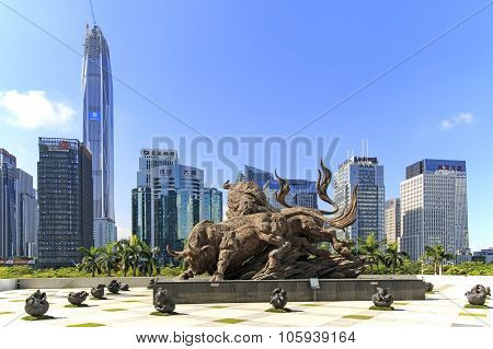 Shenzhen, China - August 19,2015: Stock Market Building In Shenzhen, One Of The Three Stock Markets