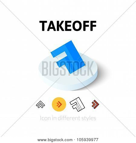 Takeoff icon in different style