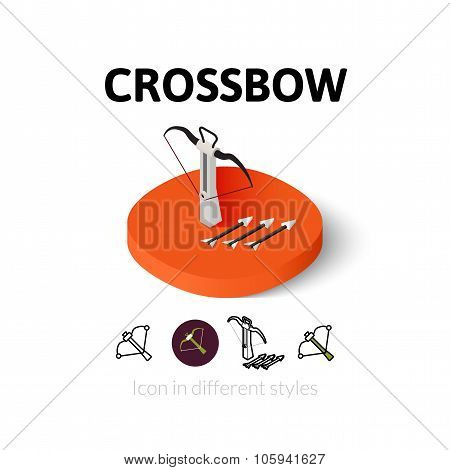 Crossbow icon in different style
