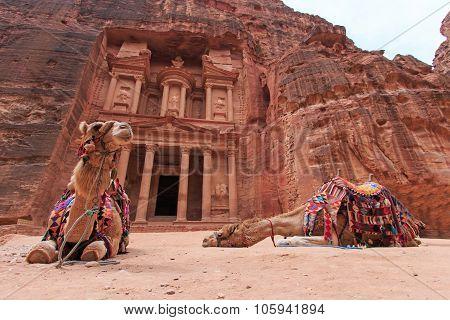The Treasury, al Khazneh, In Petra, Jordan